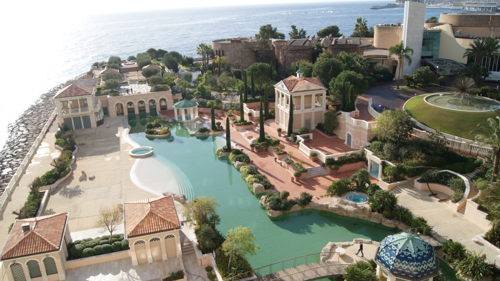 balcony view at the Monte Carlo Bay Hotel