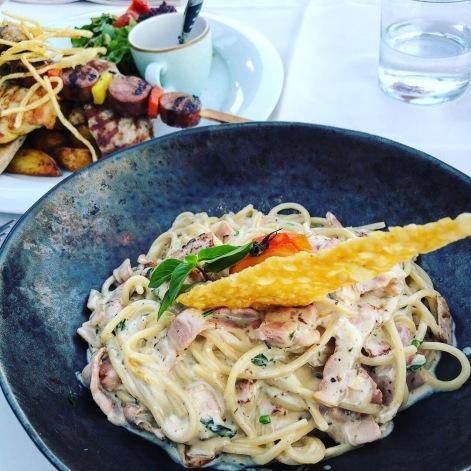 Good pasta dish in Pefkos